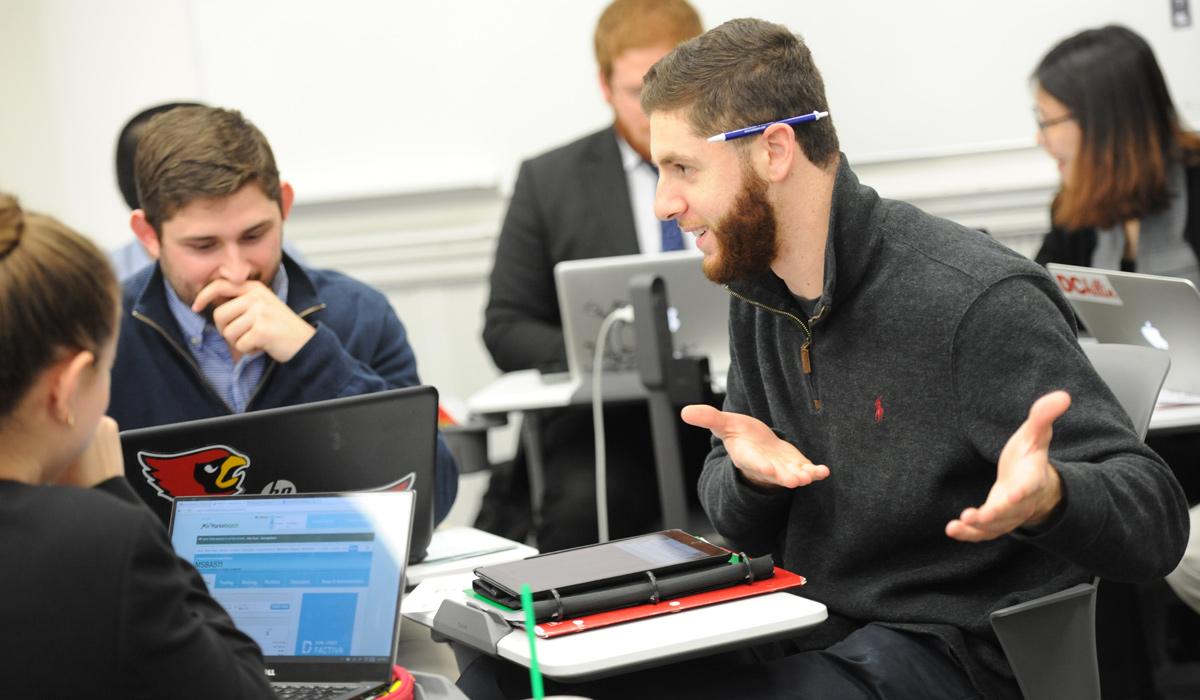 graduate students in class