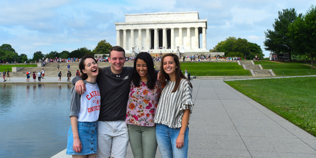 students on DC excursion